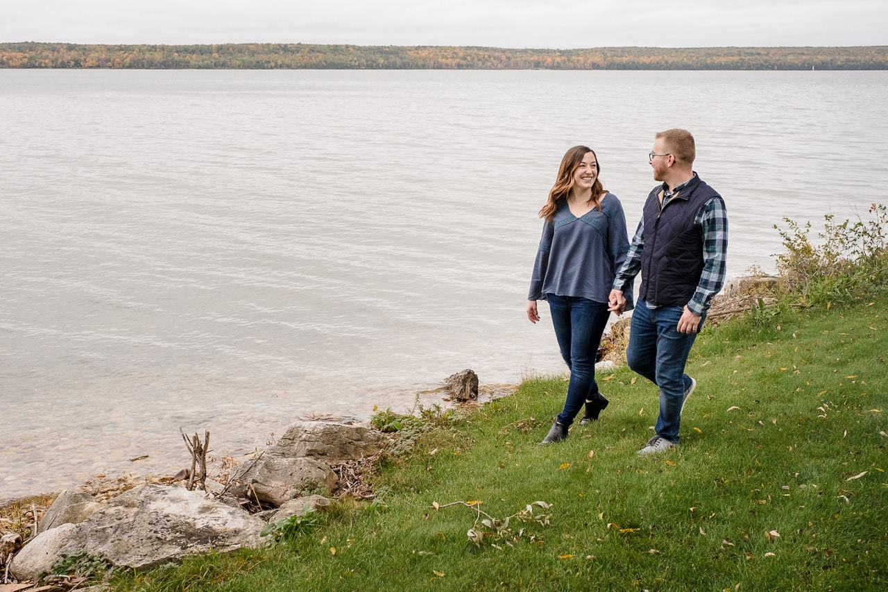 engagement session, door county engagements, couples session, engagement photos