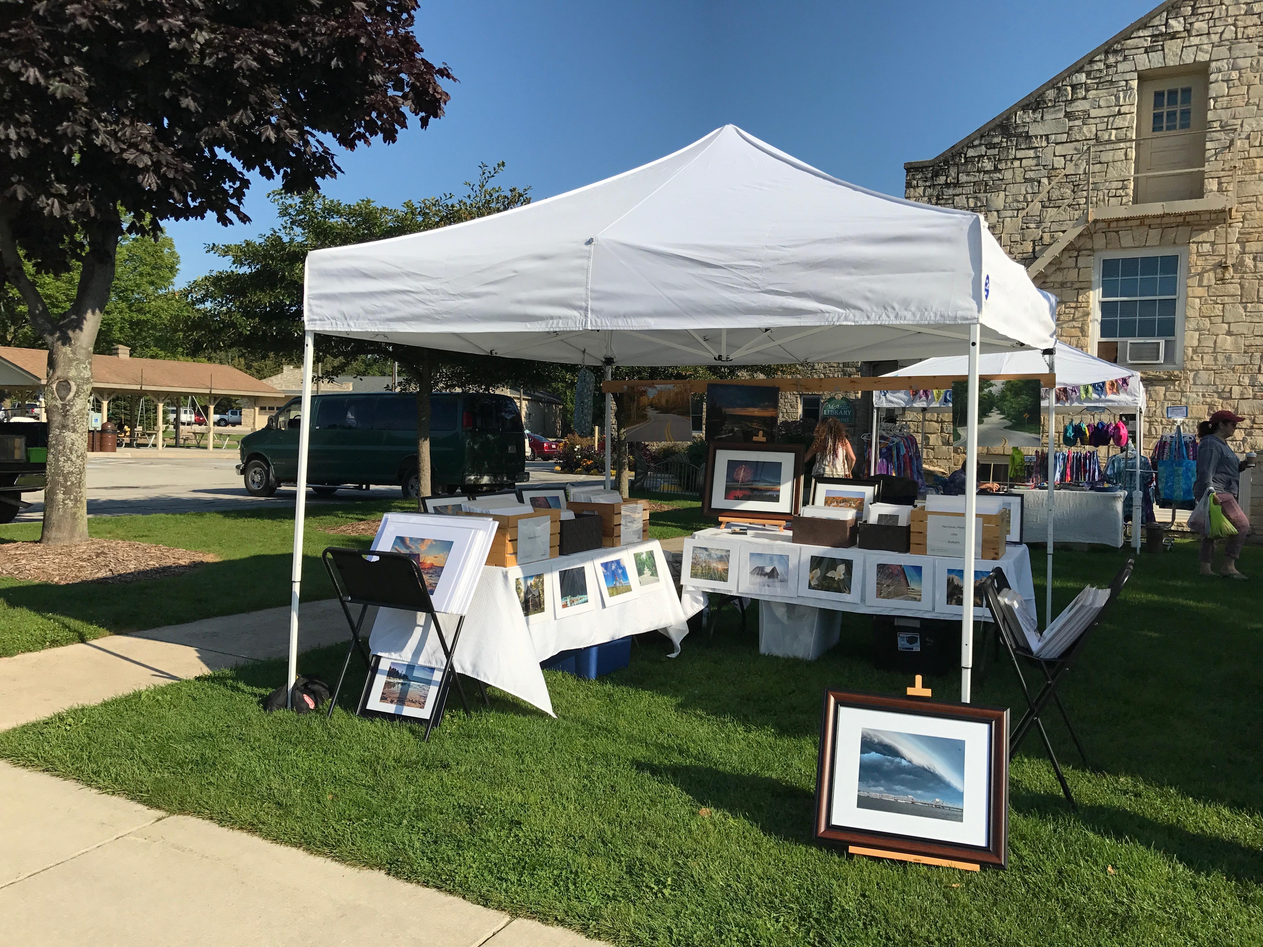 door county, farmers market, prints, baileys harbor, sturgeon bay, art fair, crafts, print sale