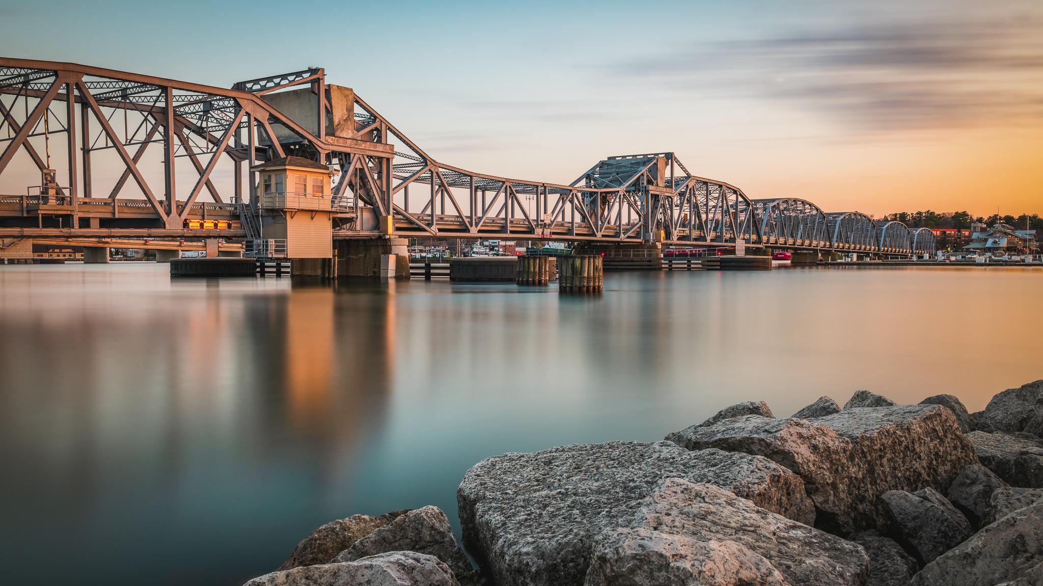 sturgeon bay steel bridge, sturgeon bay, door county, wisconsin