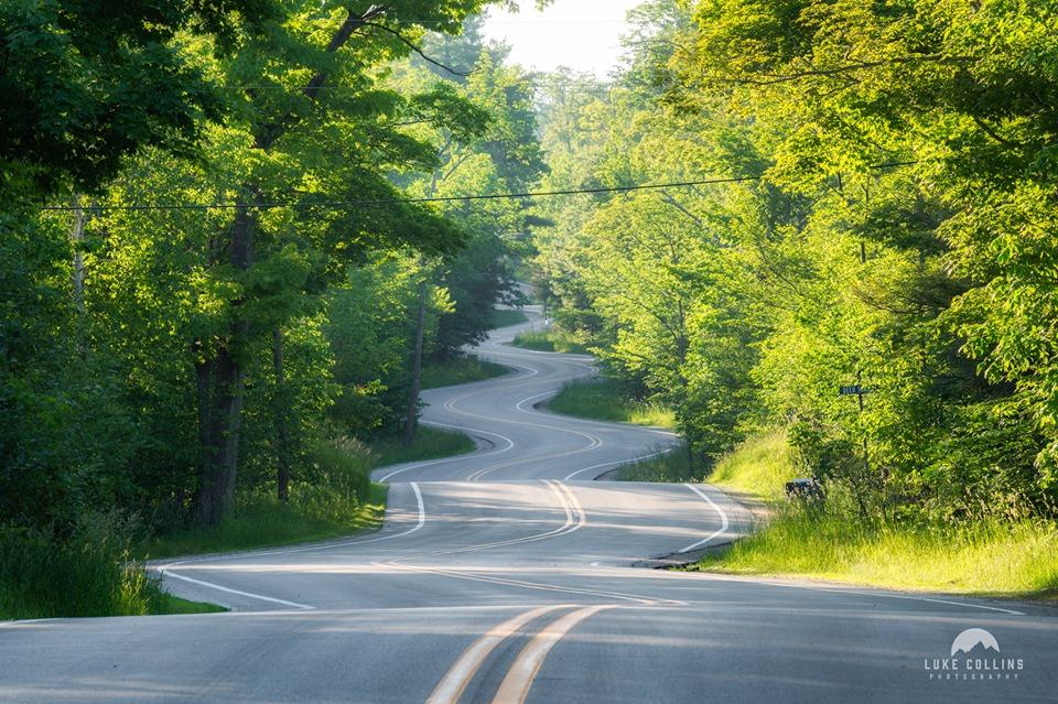 winding road in summer