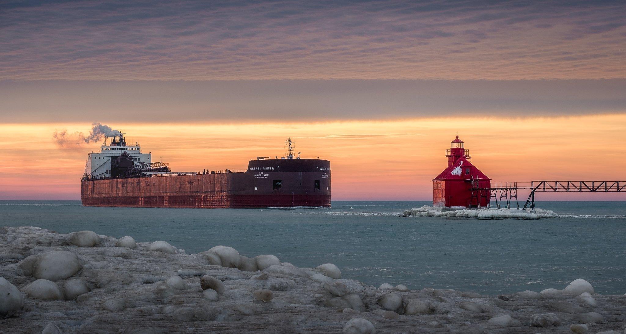 sturgeon bay winter fleet schedule, great lakes, freighter, fincantieri bay shipbuilding, bay shipbuilding